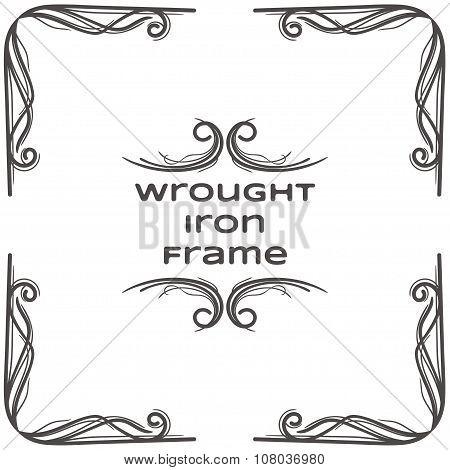 Wrought Iron Frame Three