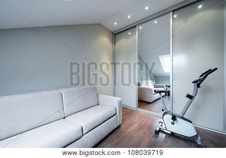 Luxury apartment interior design in new modern apartment poster