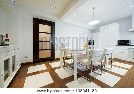 Specious White Dining Room Interior