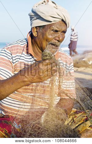 Indian Fisherman Kerela India Poverty Concept poster