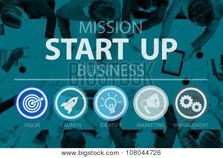 Start Up Opportunity Growth Success Chance Begin Concept poster
