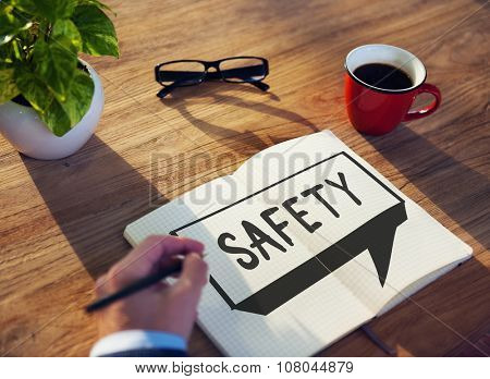 Safety Data Protection Security Protected Concept