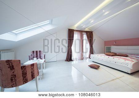 Interior Of A Specious Bedroom