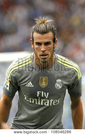 BARCELONA - SEPT, 12: Gareth Bale of Real Madrid during a Spanish League match against RCD Espanyol at the Power8 stadium on September 12 2015 in Barcelona Spain