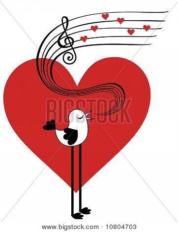 Bird in love