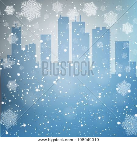 winter city background