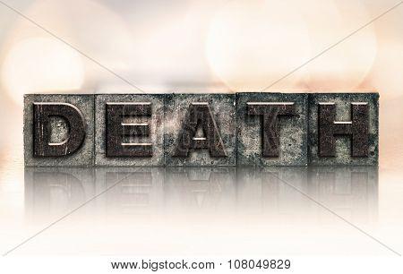 Death Concept Vintage Letterpress Type