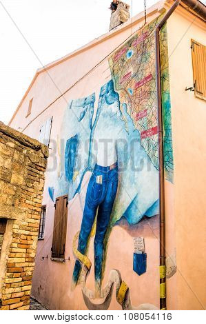 Mural Painting In Saludecio