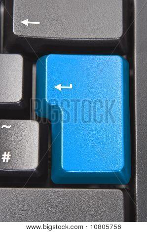 Blue Key On Keyboard