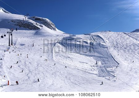 Skiing On Hintertux Glacier