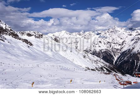 Solden Ski Resort In Austrian Alps