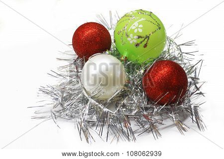 Bright colorful Christmas decorations