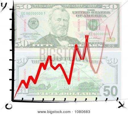 Us Dollar Graph - Vector