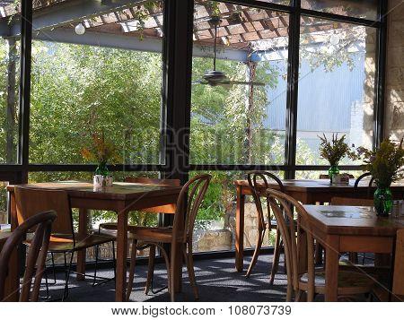 Dining room near garden
