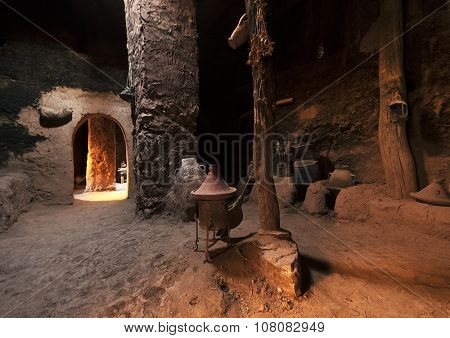 AIT BENHADDOU, MOROCCO - OCTOBER 12, 2015: Ait Benhaddou,fortified city, kasbah or ksar, along the former caravan route between Sahara and Marrakesh in Morocco