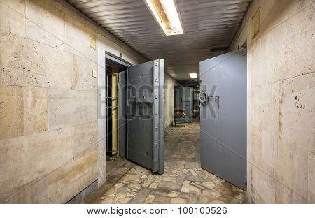 Protective Doors Of Abandoned Bank Vaults