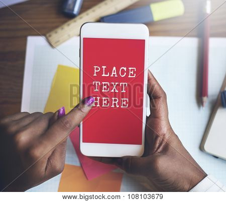 Place Text Here Data Digital Devices Internet Concept