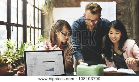 Business Team Meeting Brainstorming Working Concept