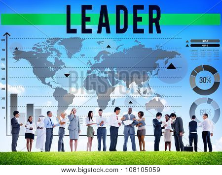Leader Leadership Authoritarian Director Concept