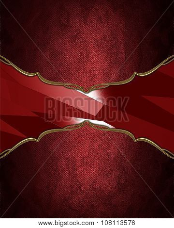 Red Frame With Gold Ornaments. Element For Design. Template For Design. Copy Space For Ad Brochure O