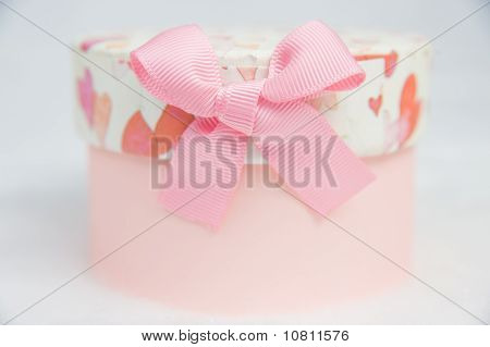 Beautiful Pink Box Isolated On White Background