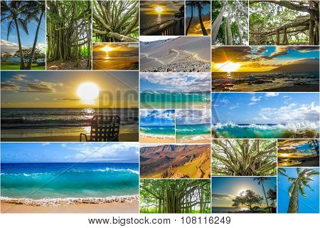 Maui beaches collage
