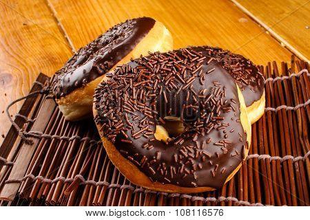 chocolate doughnuts