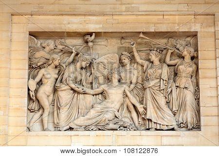PARIS, FRANCE - SEPTEMBER 8, 2014: Paris University- Faculty of Law near the Pantheon. Paris. France