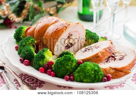 Christmas Turkey Breast Roll