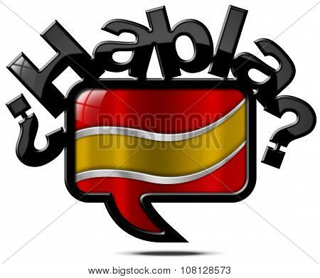 Habla Espanol - Speech Bubble