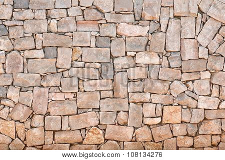 wall of different rectangular freestones surface texture