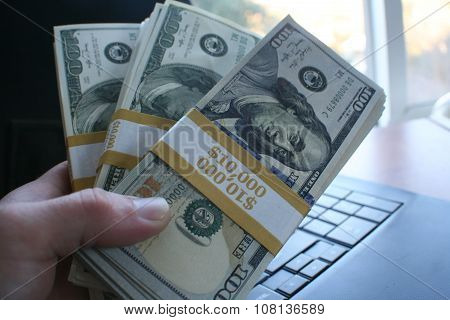 Work from home close up stock photo high quality