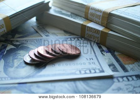 Dividends close up stock photo high quality