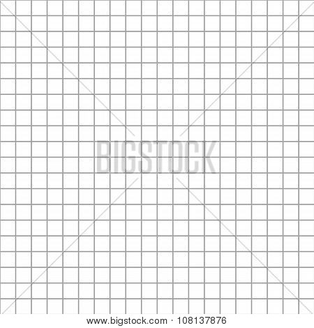 Five millimeters square grid on white seamless pattern