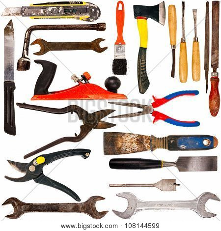 Big Size Collection Of Various Used Tools
