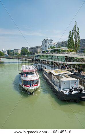 Boats On Danube River - Wien
