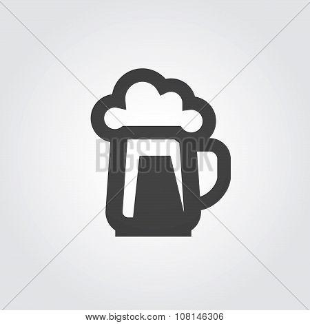 beer, ale vector logo design template. alcohol drink or pub icon
