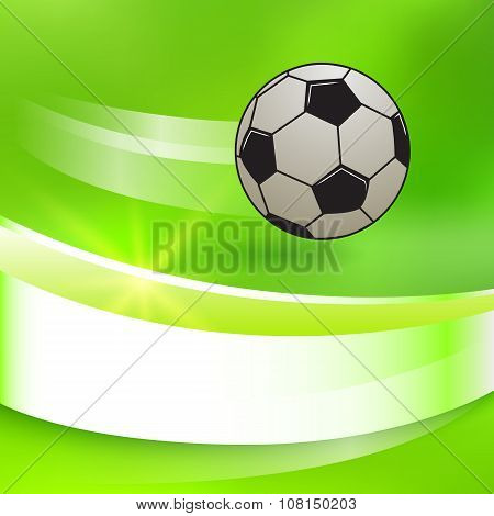 Soccer-ball-on-a-green-bright-glowing-background