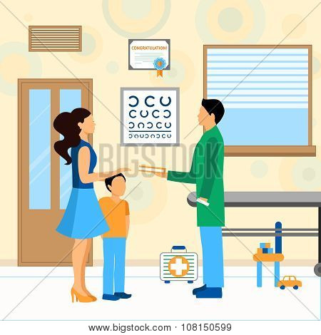 Child Doctor Pediatrician Illustration