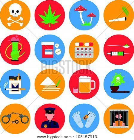 Drugs Icons Set