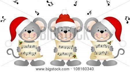 Christmas mouses choir singing