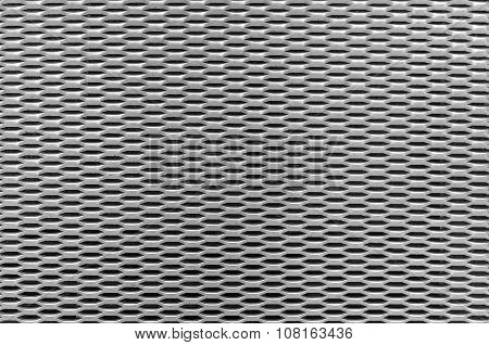 Background metal plate.