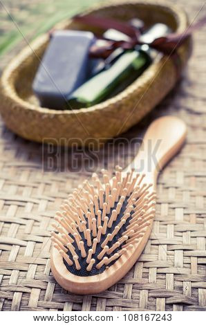 Bath Spa Massage Kit Isolated Over White Background