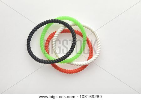 UAE National Day celebration decorative item. Colorfull wrist bands.