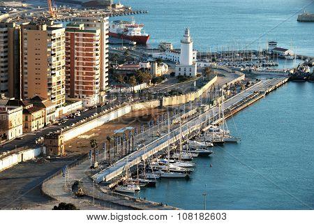 Malaga port.