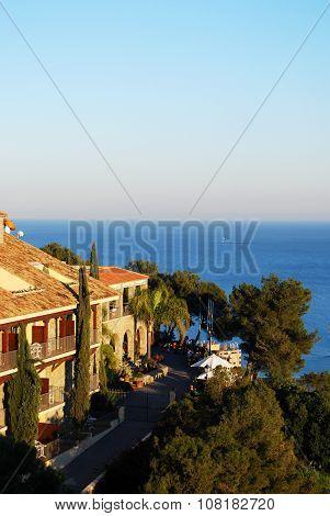 Hotel overlooking the sea, Malaga.