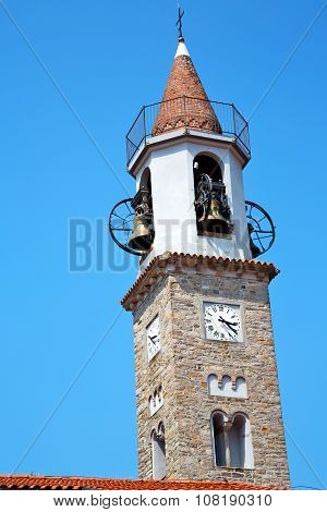 Building  Clock Tower In Italy Europe  And Bell