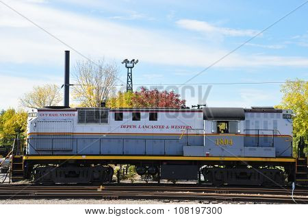 SCRANTON, PA - SEP 26: Trains at the Steamtown National Historic Site in Scranton, PA, as seen on Sep 26, 2015. The site also features several original outbuildings dated between 1899 and 1902.
