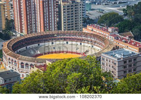 MALAGA,SPAIN-2,MAY,2014:Spain,malaga Plaza De Toros