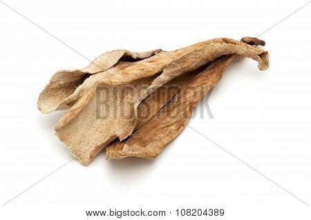 Macro closeup of Organic Sour dried mango.